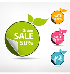 Colorful sticker price tag vector image vector image