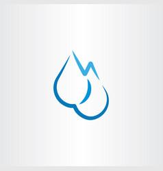rain water drop icon sign design vector image vector image