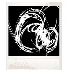 scratched photo frame vector image