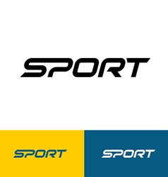 Sport word text logo vector image vector image