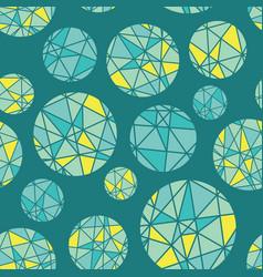 teal blue green geometric mosaic circles vector image vector image