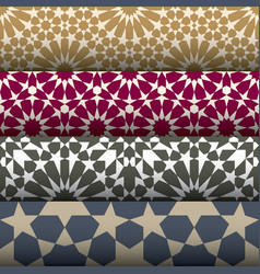5 geometric seamless patterns vector image