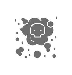 Air pollution industrial smog grey icon vector