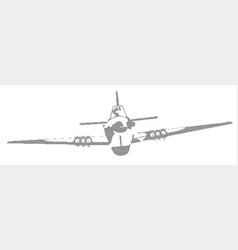 Aircraft in halftone vector