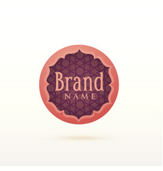 Arabic style logo design template vector