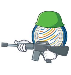 Army factom coin character cartoon vector
