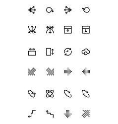 Arrows Icons 17 vector