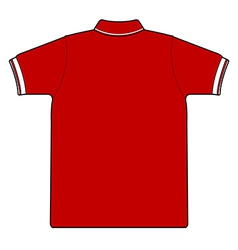 back side of polo shirt vector image