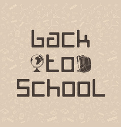 back to school cool background vector image