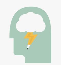 brain storm vector image