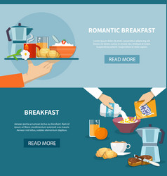 Breakfast banners set vector