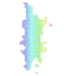 Bright cirle dot phuket map vector