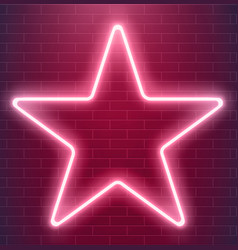 bright disco design neon star glowing vector image