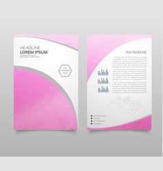Business brochure flyer design a4 template with vector