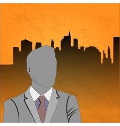 businessman poster vector image