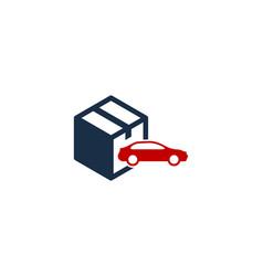 car box logo icon design vector image