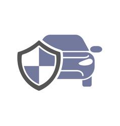 Car guard shield sign collision insurance shop vector