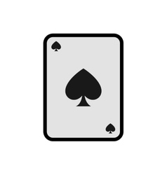 Card casino las vegas game lucky icon vector