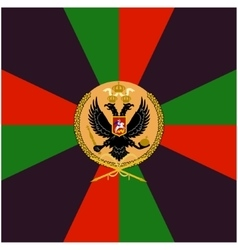 Color flag Siberian Grenadier Regiment vector