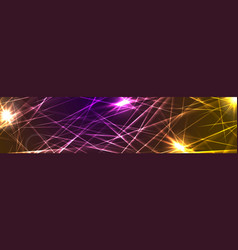 colorful glowing laser beams lines abstract vector image