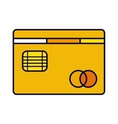 credit card bank icon vector image