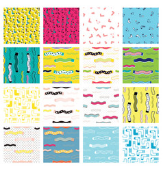 Cute colorful background set for kid web site and vector