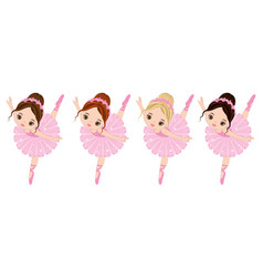 Cute little ballerinas vector