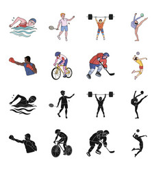 cycling boxing ice hockey volleyballolympic vector image