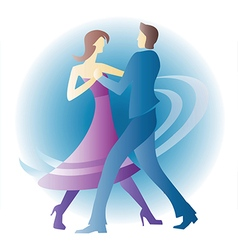 Dancing young couple vector image