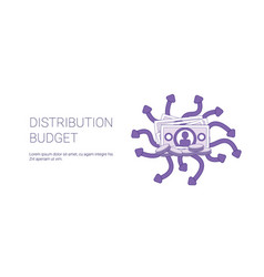 Distribution budget marketing strategy template vector