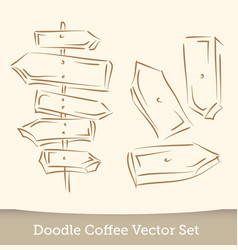 doodle arrows set isolated on white background vector image