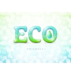 Eco friendly label Gradient Mesh EPS10 vector