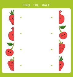 find half for fruits vector image