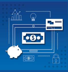 Fintech business concept vector
