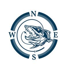 fishing boat logo vector image