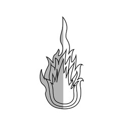 flame fire icon vector image