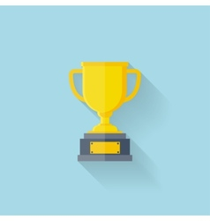 Flat web icon Trophy first place vector image