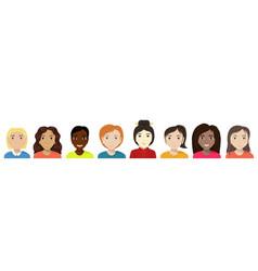 Flat women different nationalities diversity vector