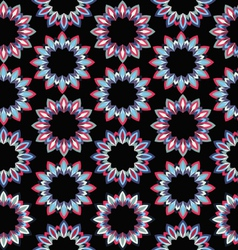 Geometric floral background vector