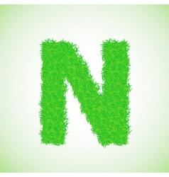 grass letter N vector image