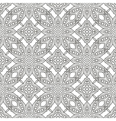 Grey Ornamental Seamless Line Pattern vector image