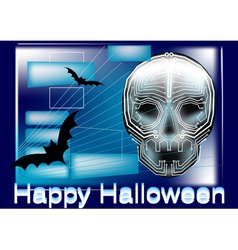 halloween in computer vector image
