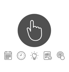 hand click line icon finger touch sign vector image