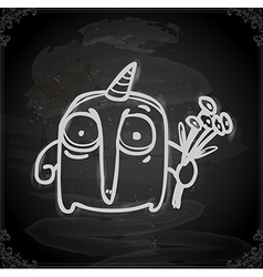 Hand Drawn Party Alien vector image