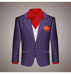 Hipster suit of mens clothing vector