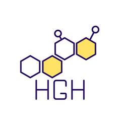 human growth hormone rgb color icon vector image