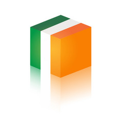 irish flag in modern design vector image