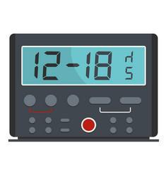 kitchen timer icon flat style vector image