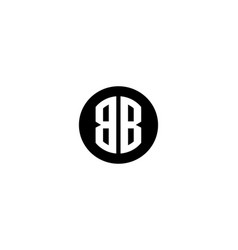 letter b and b icon alphabet symbol vector image