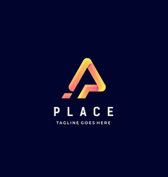 logo place gradient colorful style vector image